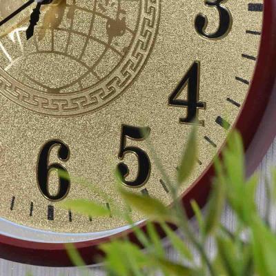 "581-459 Часы настенные LADECOR CHRONO , ""серебро/золото"" d29,5см, пластик, плавный ход, 1хАА, 2 цвета"
