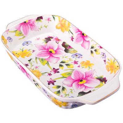 821-262 Душистые цветы Салатник-шубница, 28см, фарфор