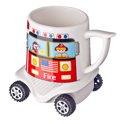 """806-799 Кружка на колесиках 300мл, костяной фарфор NBC, """"Пожарная машина"""""""