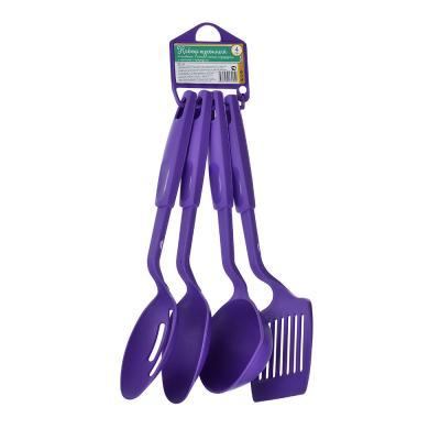 881-134 Набор кухонных принадлежностей 4 предмета, пластик, фиолетовый