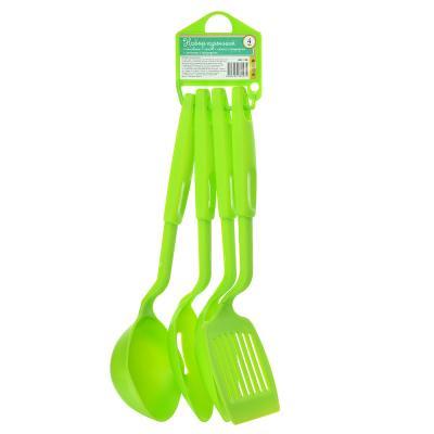 881-136 Набор кухонных принадлежностей 4 предмета, пластик, зеленый