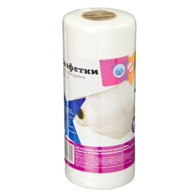 448-175 Набор универсальных салфеток из вискозы 50 шт в рулоне, плотные, 20х33 см, белые, VETTA