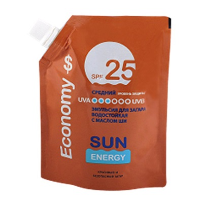 313-165 Sun Energy Economy Эмульсия для загара SPF 25, дой-пак 200мл, Эльфа 2541