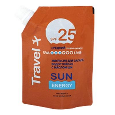 313-168 Sun Energy Travel Эмульсия для загара SPF 25, дой-пак, 90мл, Эльфа 2602