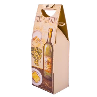 """416-037 Сумка для вина, ПВХ, искусств.кожа, 36,5х10х13,5см, """"Гурман"""""""