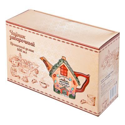 """824-386 Домики Чайник заварочный, керамика, 600мл, """"Пряничный домик"""""""