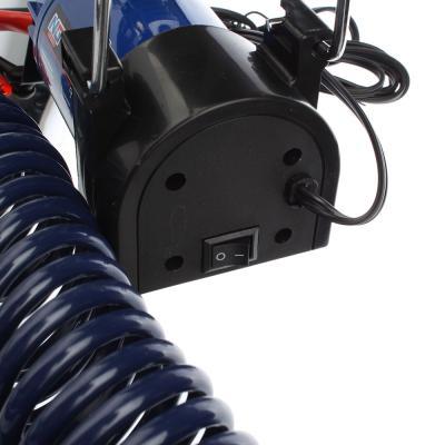 713-025 NEW GALAXY Компрессор автомобильный, крокодилы к АКБ, шланг 5м, в сумке 12V, 280W, 60 л/мин, металл