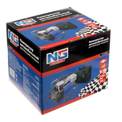 713-026 NEW GALAXY Компрессор автомобильный, штекер прикур, в сумке, 12V, 140W, 35 л/мин, металл