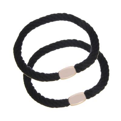 322-055 Набор резинок для волос 2шт., d5,5 см, полиэстер, пластик, 3 цвета