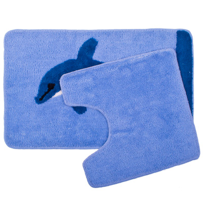 """462-461 VETTA Набор ковриков 2шт для ванной и туалета, акрил, 50x80см + 50x50см, """"Дельфин"""", SCF08-072"""