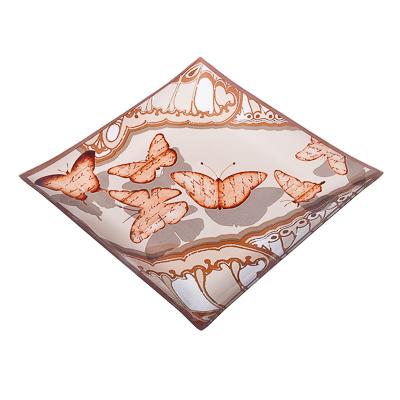 877-261 VETTA Полет бабочки Блюдо квадратное стекло, 25,4см, S3110