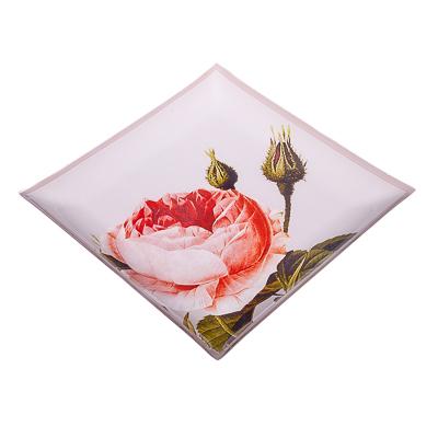 877-282 VETTA Нежные розы Блюдо квадратное стекло, 25,4см, S3110