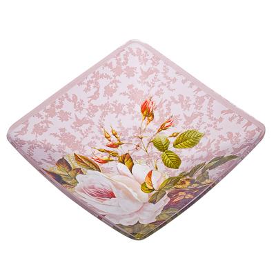 877-285 VETTA Нежные розы Салатник квадратный стекло, 15,2см, S312006N