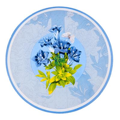 877-287 VETTA Садовые цветы Блюдо вращающееся 30,5см, стеклянное, S3012D/2