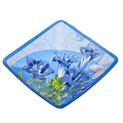 877-291 VETTA Садовые цветы Салатник квадратный стекло, 15,2см, S312006N