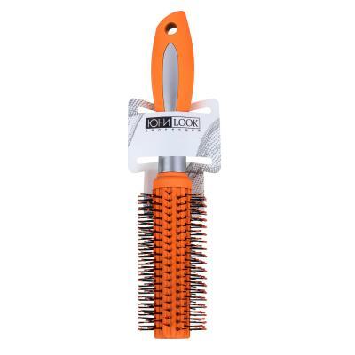 356-250 Расческа-брашинг, пластик, силикон, 23,5 см, розовый, фиолетовый