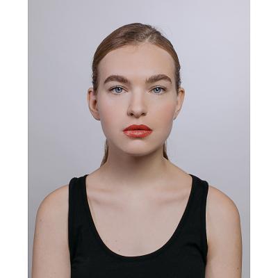 357-039 Кисть для макияжа губ, дерево, синтетич.нейлон, 15см, черный, 26905-17