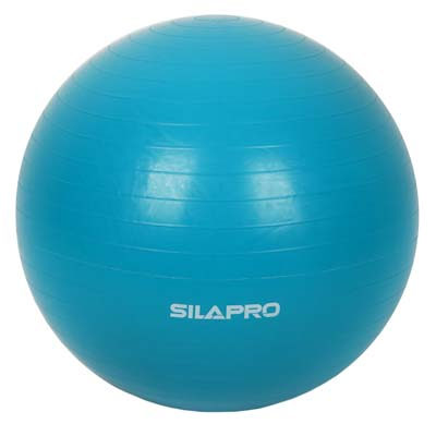 193-003 SILAPRO Мяч для фитнеса гимнастический, ПВХ, 65см, 800гр, 6 цветов, в коробке