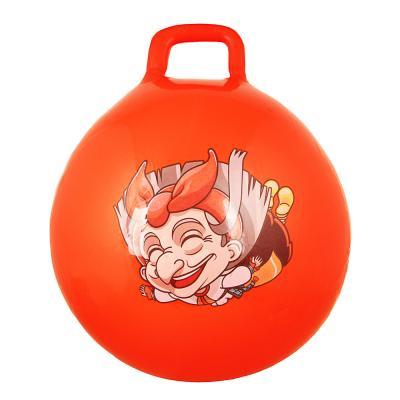 193-007 Мяч-попрыгун с ручками, ПВХ, 50 см, 400 гр, 6 цветов, SILAPRO