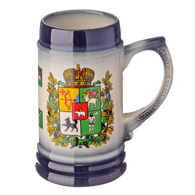 """806-829 Кружка пивная 0,75л, керамика, """"Русские земли"""""""