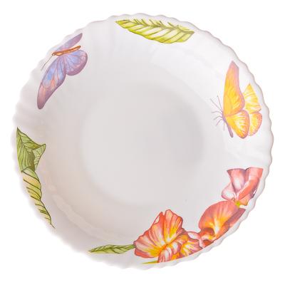 818-714 VETTA Никта Тарелка суповая опаловое стекло тонкое, 21,5см, NHSP85C, дизайн GC
