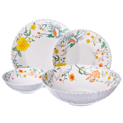 818-718 VETTA Селена Набор столовой посуды 19 пр. опаловое стекло тонкое, NH19C