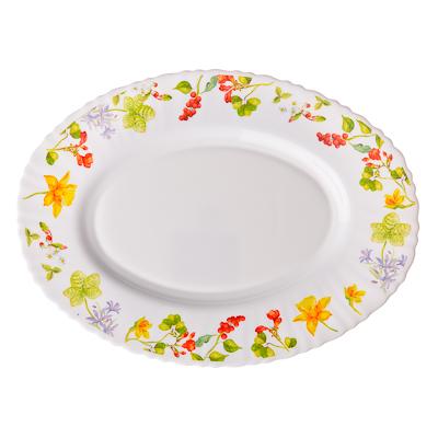 818-739 VETTA Протей Блюдо овальное опаловое стекло тонкое, 30см, NHYP120