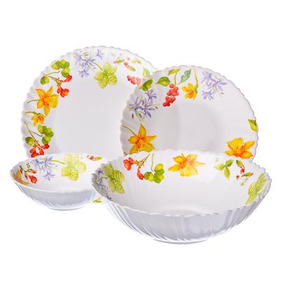 818-741 VETTA Протей Набор столовой посуды 19 пр. опаловое стекло тонкое, NH19C, дизайн GC