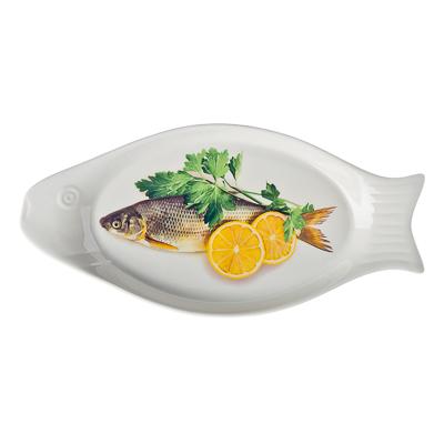 816-126 Блюдо для рыбы, фрф, 31,5x15x2,5см, подар.уп.