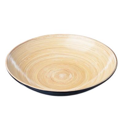 809-002 VETTA Салатник бамбук, 25x5см, 3 цвета, арт.5502