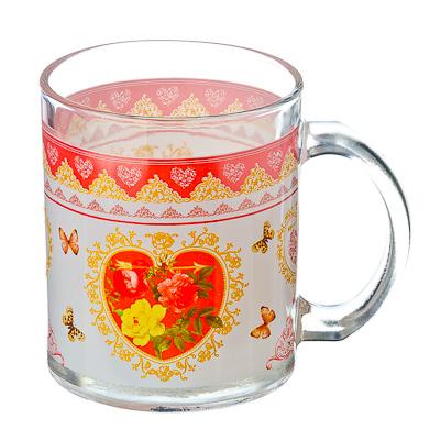 830-122 VETTA Букет роз Кружка стекло 270мл, S2348