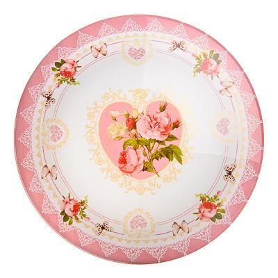830-126 VETTA Букет роз Салатник стекло 22,8см, S302009