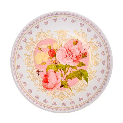 830-127 VETTA Букет роз Тарелка десертная стекло 20см, S3008