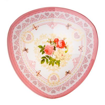 830-133 VETTA Букет роз Салатник треугольный стекло, 25,4см, S332010