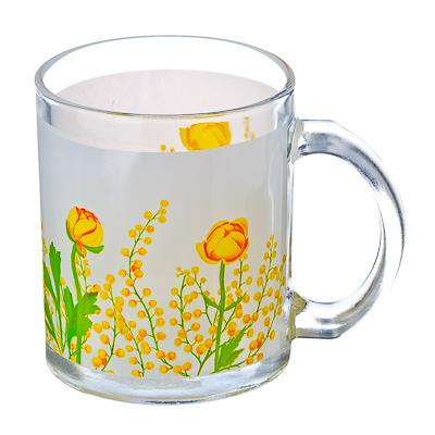 830-136 VETTA Весенние цветы Кружка стекло 270мл, S2348