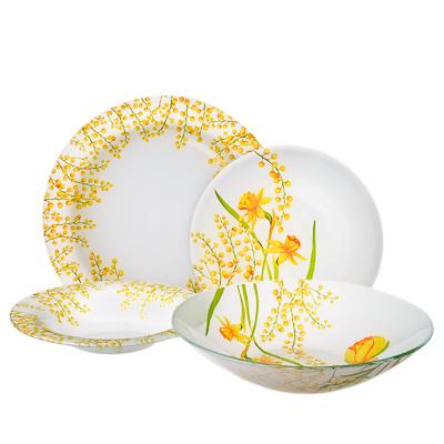 830-137 VETTA Весенние цветы Набор столовой посуды 19 пр. стекло, S3000/19
