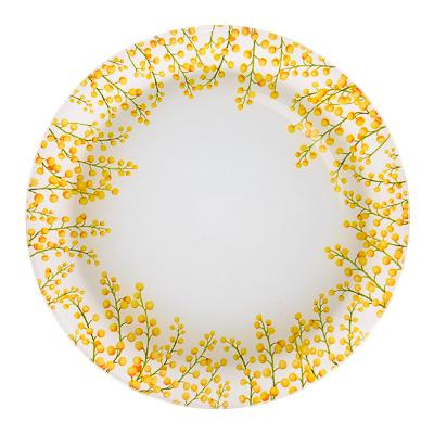 830-142 VETTA Весенние цветы Тарелка подстановочная стекло 25,4см, S3010