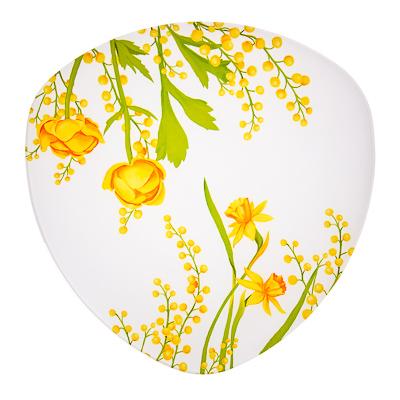 830-145 VETTA Весенние цветы Блюдо треугольное стекло, 30см, S330012