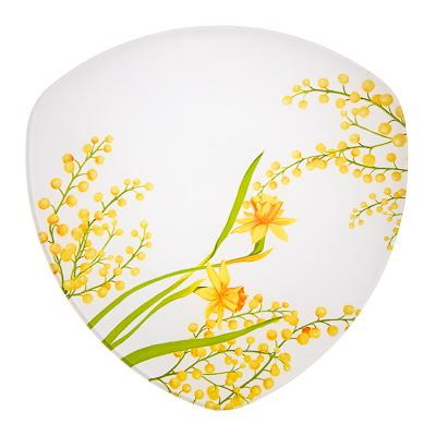 830-146 VETTA Весенние цветы Блюдо треугольное стекло, 25,4см, S330010