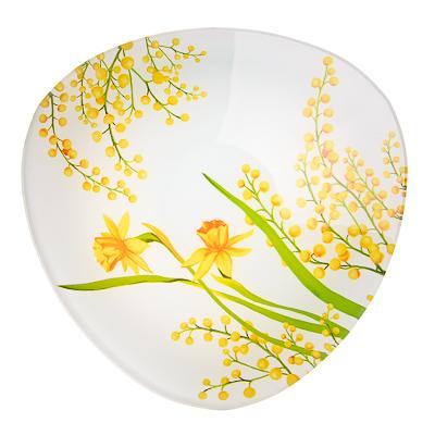 830-147 VETTA Весенние цветы Салатник треугольный стекло, 25,4см, S332010