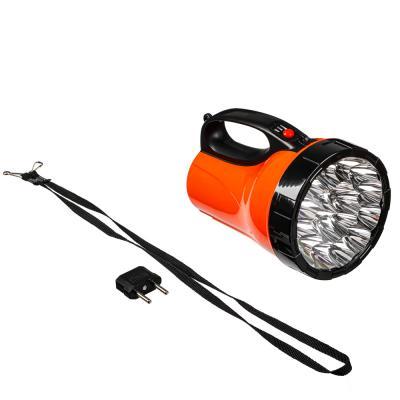 198-012 ЧИНГИСХАН Фонарь прожектор 18 ярк. LED, 3xАА / вилка 220В, пластик, 17x11 см