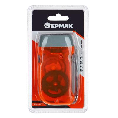 198-013 ЧИНГИСХАН Фонарик динамический 3 LED, пластик, 9,5х5 см
