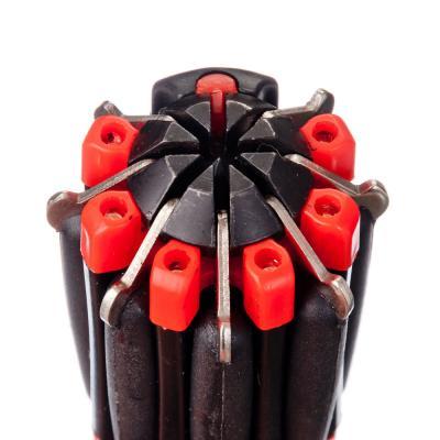 198-016 ЧИНГИСХАН Фонарь с инструментами 8-в-1 6 LED, 3xAAA, пластик и металл, 12,5х4,5 см