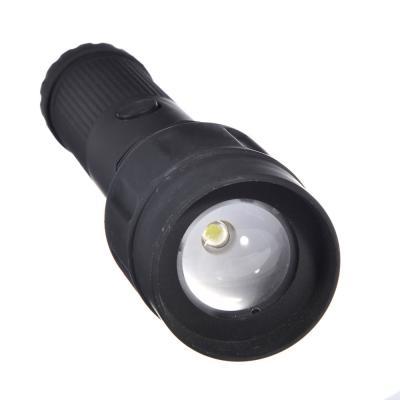 198-024 ЧИНГИСХАН Фонарь с фокусировкой 1 Вт LED, 3xAA, резинопластик, 20х5 см