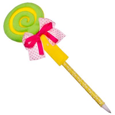 """525-060 Ручка """"Леденец"""" шариковая, ткань, 23см"""