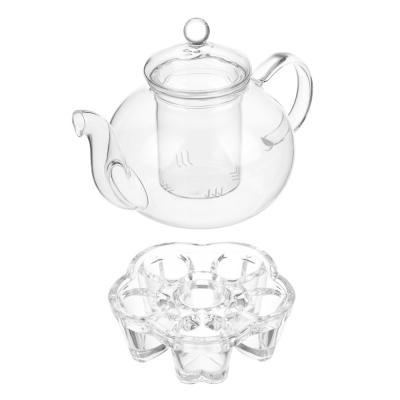 850-116 Чайник заварочный с подставкой для свечи 800 мл, жаропрочное стекло