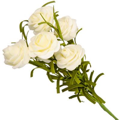 """501-276 Цветок искусственный """"В виде Розы"""" 36см, пластик, неопрен, 4 цвета, арт.А001-25"""