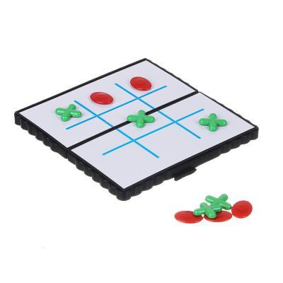 138-005 Игра в виде Крестиков-ноликов магнитные дорожные 13х13см, пластик, металл
