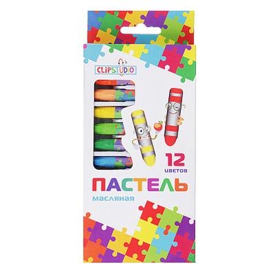 284-071 Восковые карандаши, масляная пастель, 12 цветов