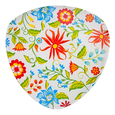 830-170 VETTA Весна Блюдо треугольное стекло, 25,4см, S330010 H209